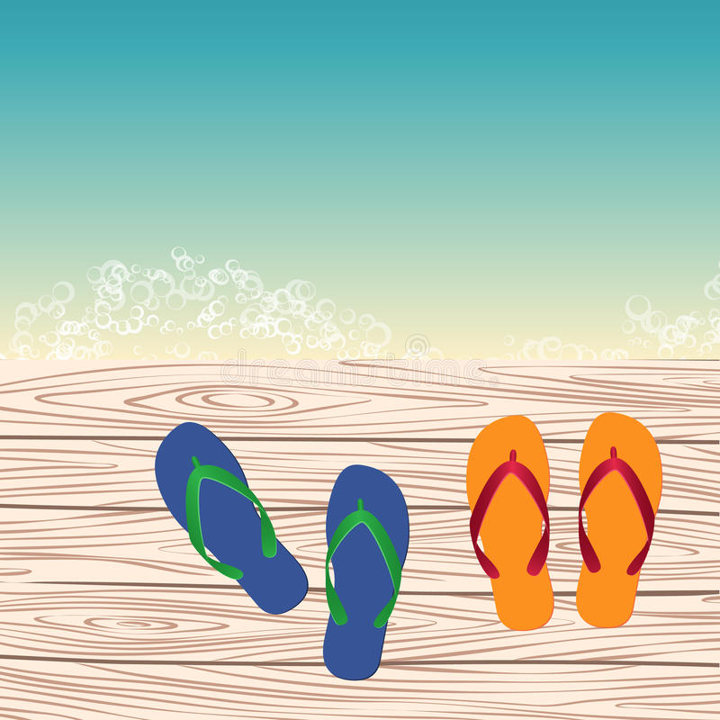 Molde com flip-flops ilustração stock