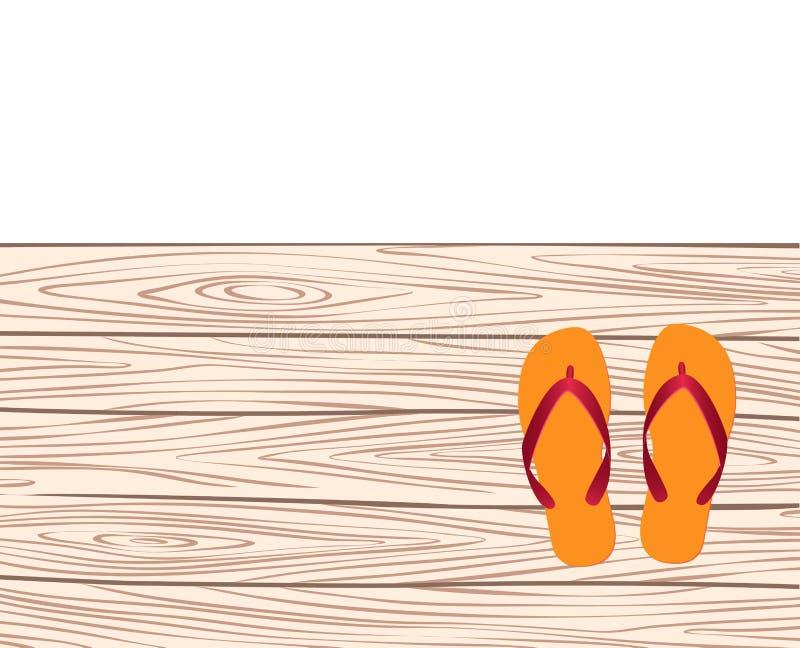 Molde com flip-flops ilustração do vetor