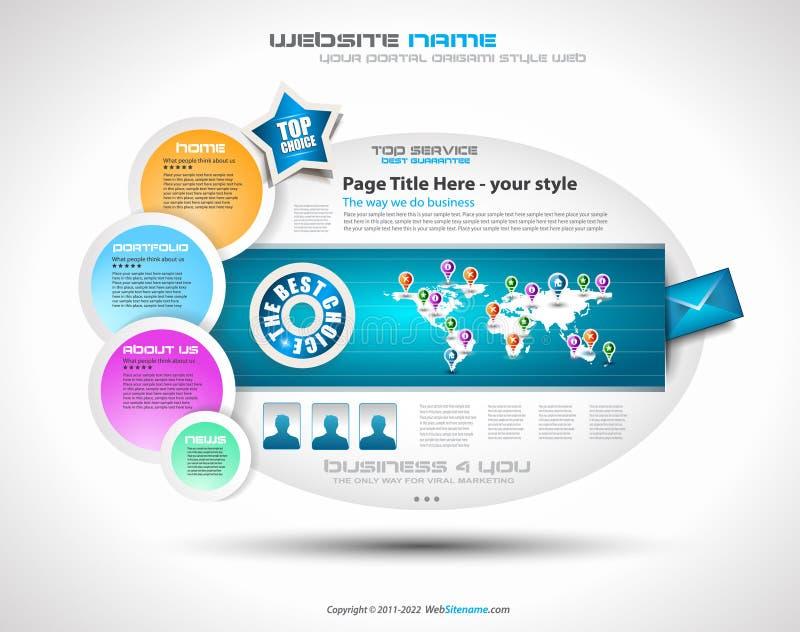 Molde complexo do Web site - projeto elegante ilustração royalty free
