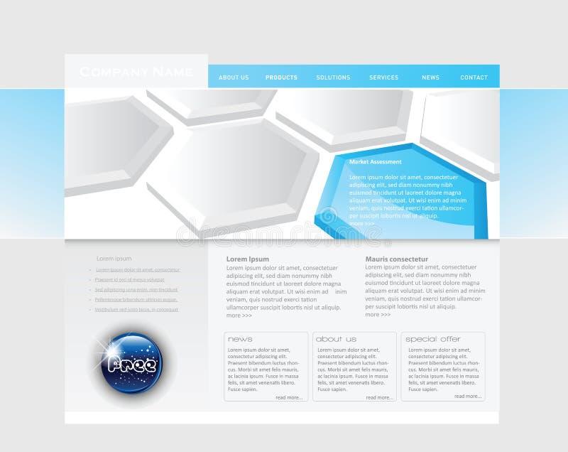 Molde conceptual do Web site ilustração royalty free