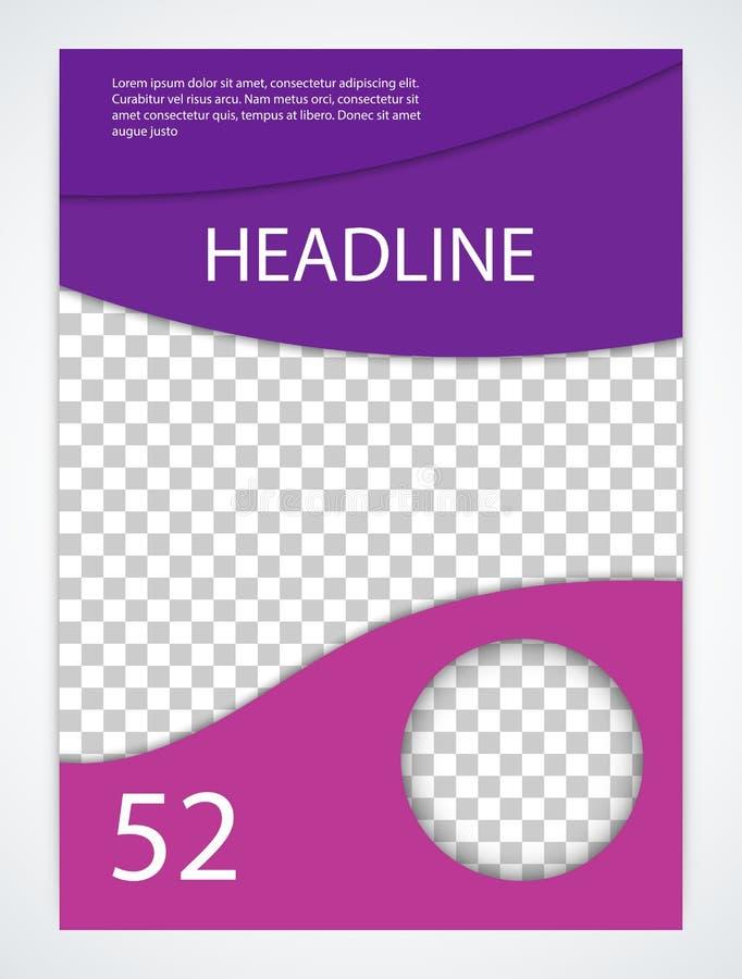 Molde conservado em estoque do folheto do vetor Capa de revista ilustração do vetor