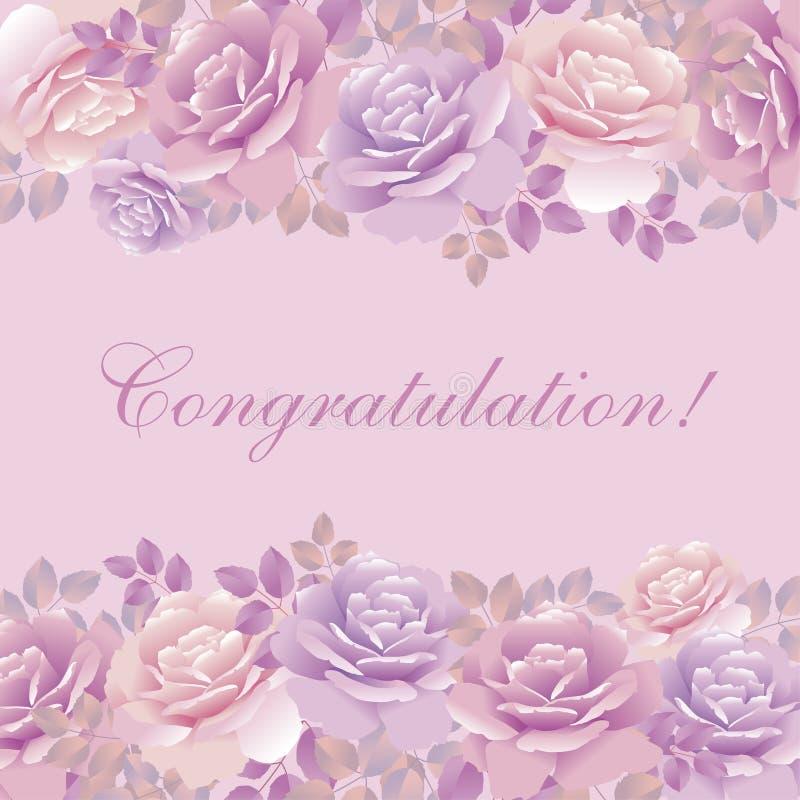 Molde cor-de-rosa da violeta ilustração royalty free
