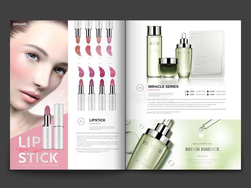 Molde cosmético do compartimento ilustração stock