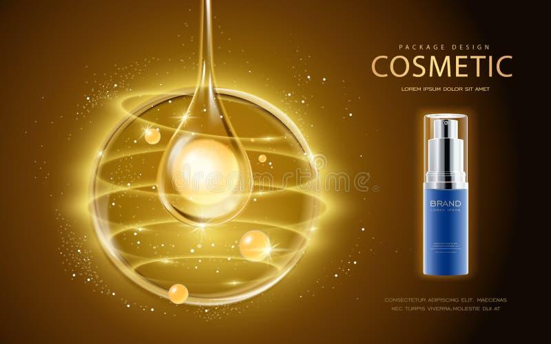 Molde cosmético dos anúncios ilustração royalty free