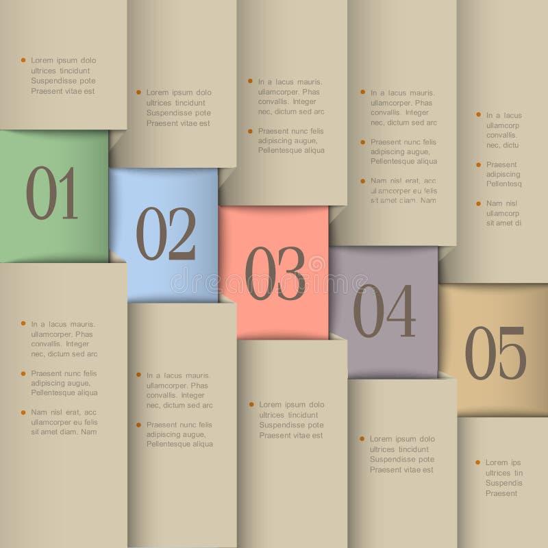 Molde creativo do projeto ilustração stock