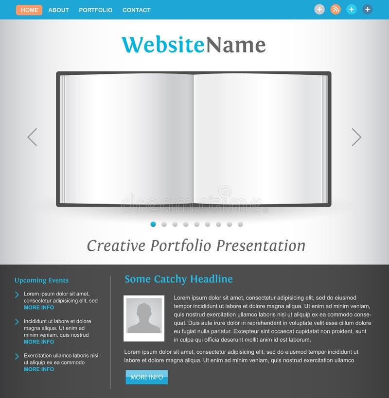 Molde creativo do projeto do Web site ilustração royalty free