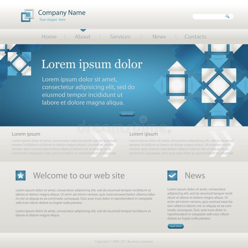 Molde creativo do Web site azul ilustração stock