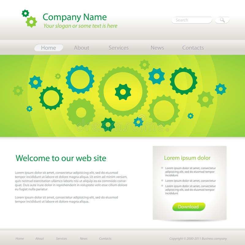 Molde creativo do Web site verde ilustração do vetor