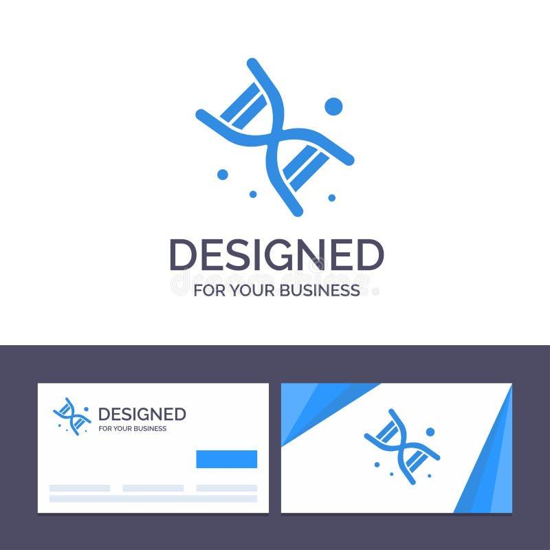 Molde criativo bio, ADN do cartão e do logotipo, genética, ilustração do vetor da tecnologia ilustração stock