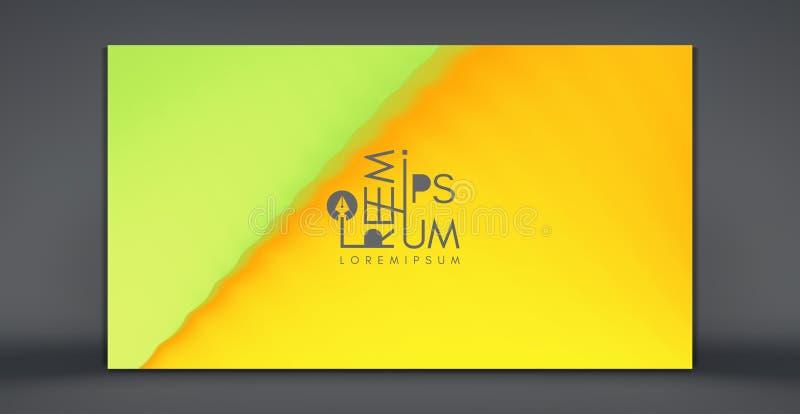 Molde criativo do projeto com inclinações vibrantes ilustração 3d para anunciar, mercado, apresentação Opini?o de perspectiva ilustração stock