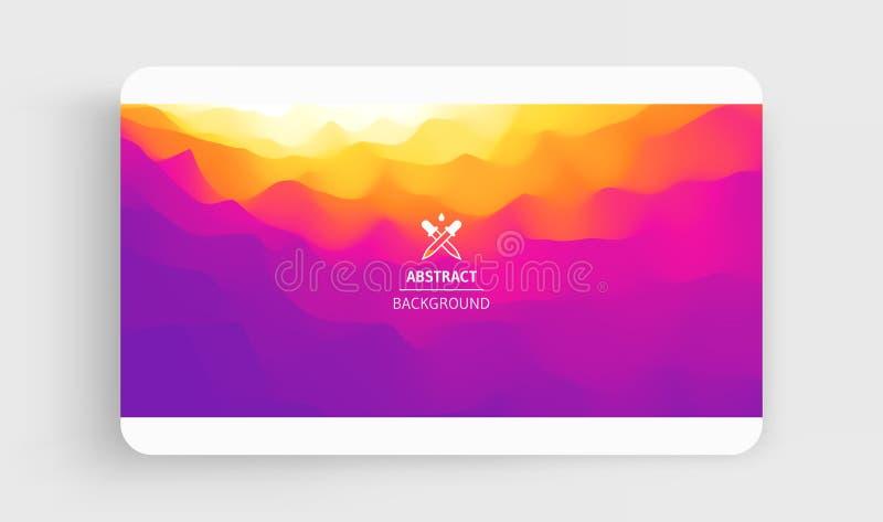 Molde criativo do projeto com inclinações vibrantes ilustração 3d para anunciar, mercado, apresentação Opini?o de perspectiva ilustração do vetor