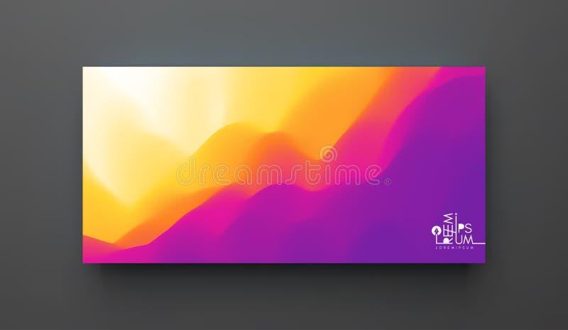 Molde criativo do projeto com inclinações vibrantes ilustração do vetor 3d para anunciar, mercado, apresentação Opini?o de perspe ilustração do vetor