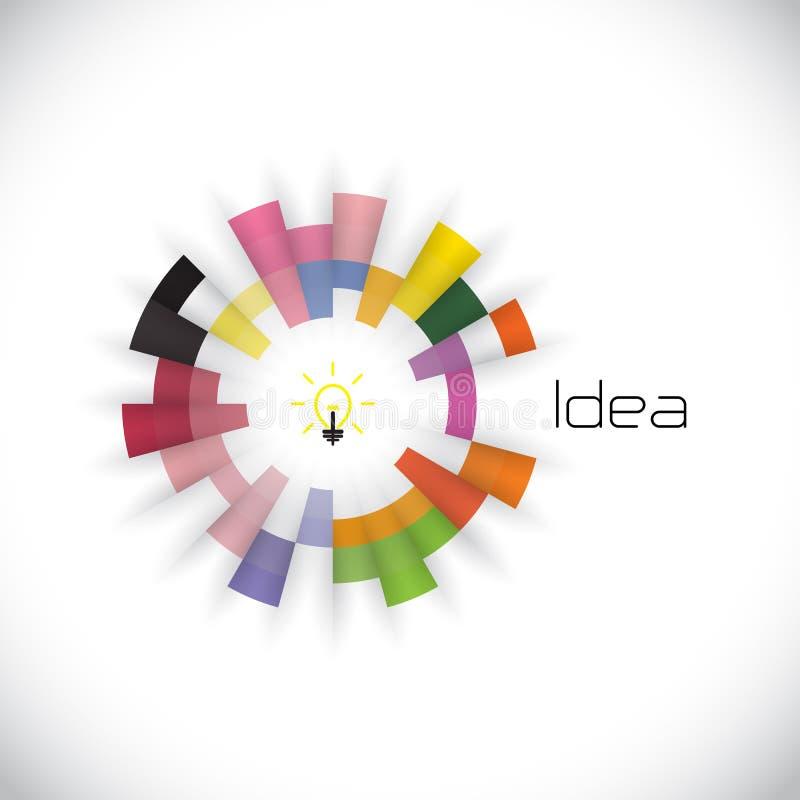 Molde criativo do projeto do logotipo do vetor do sumário do círculo incorporado ilustração royalty free