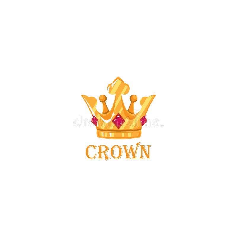 Molde criativo do projeto do logotipo do conceito da coroa ilustração stock