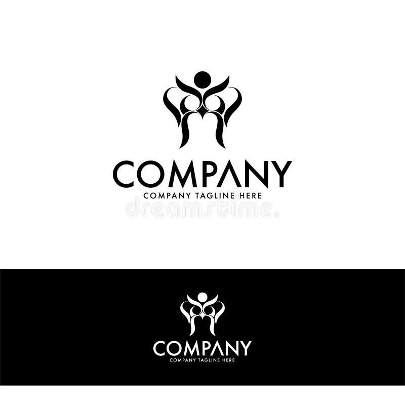 Molde criativo do projeto do logotipo da coruja ilustração royalty free