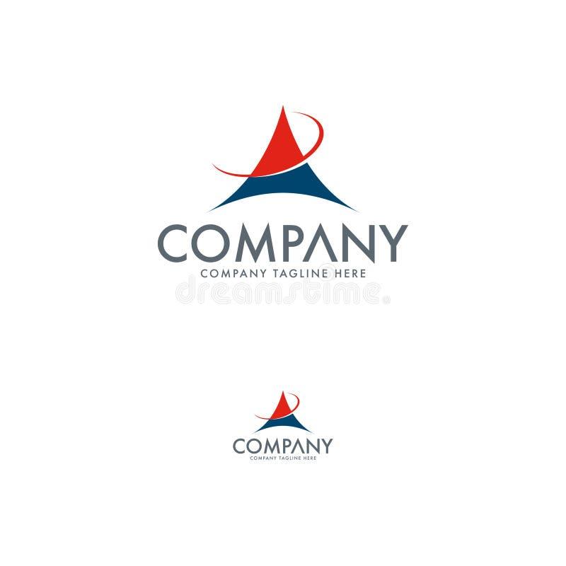 Molde criativo do projeto do logotipo da letra A ilustração stock