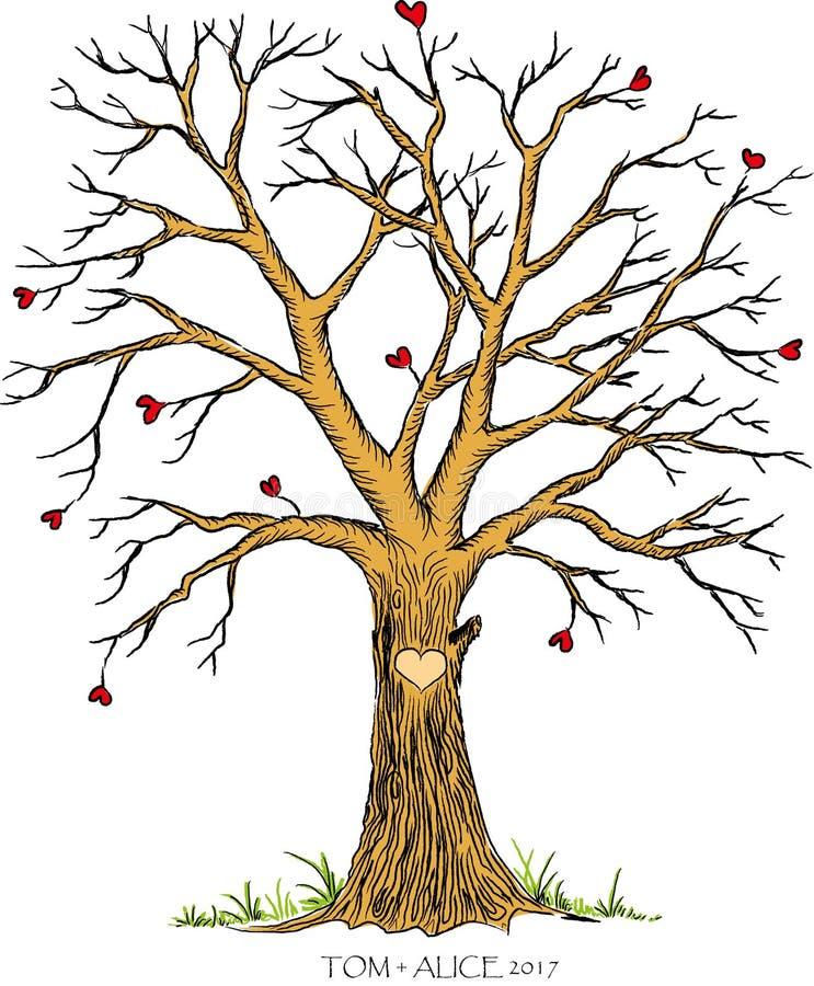 Molde da árvore do casamento ilustração royalty free
