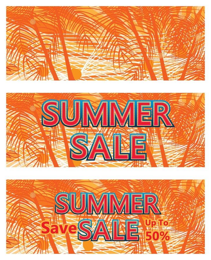 Molde da bandeira da venda do verão ilustração royalty free