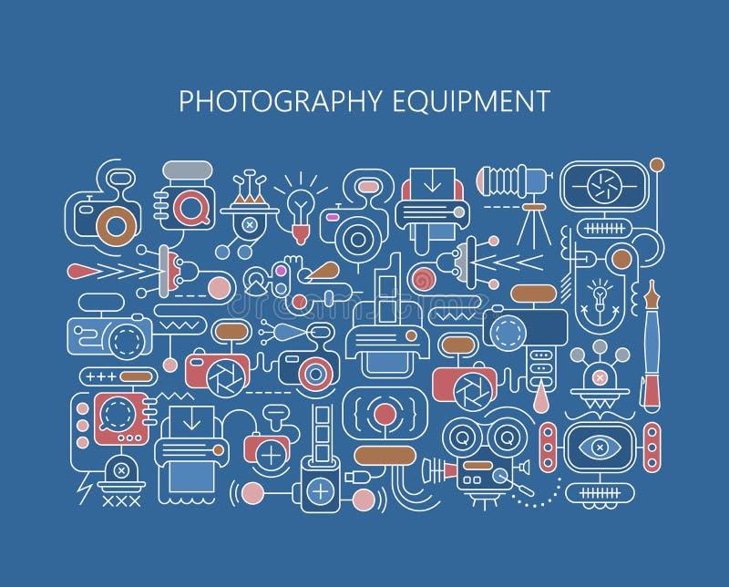 Molde da bandeira do vetor do equipamento da fotografia ilustração royalty free