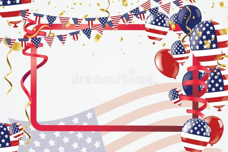 Molde da bandeira da propaganda da promoção de venda do Dia do Trabalhador L americano ilustração stock