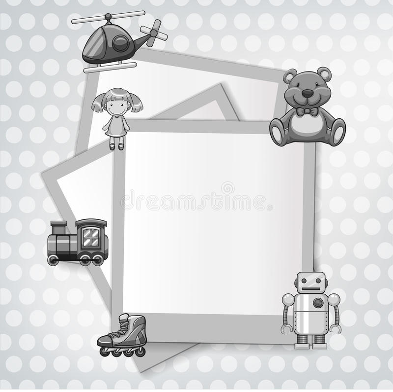 Molde da beira com tema dos brinquedos ilustração stock