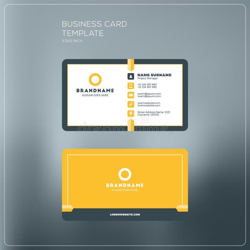Molde da cópia de cartão da empresa Cartão de visita pessoal w ilustração royalty free