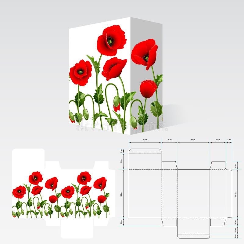 Molde da caixa ilustração do vetor