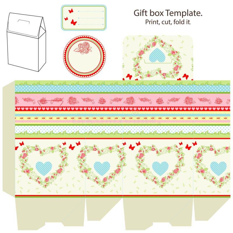 Molde da caixa de presente ilustração royalty free