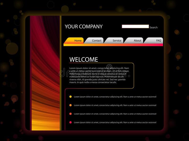 Molde da disposição do Web site no vermelho ilustração royalty free