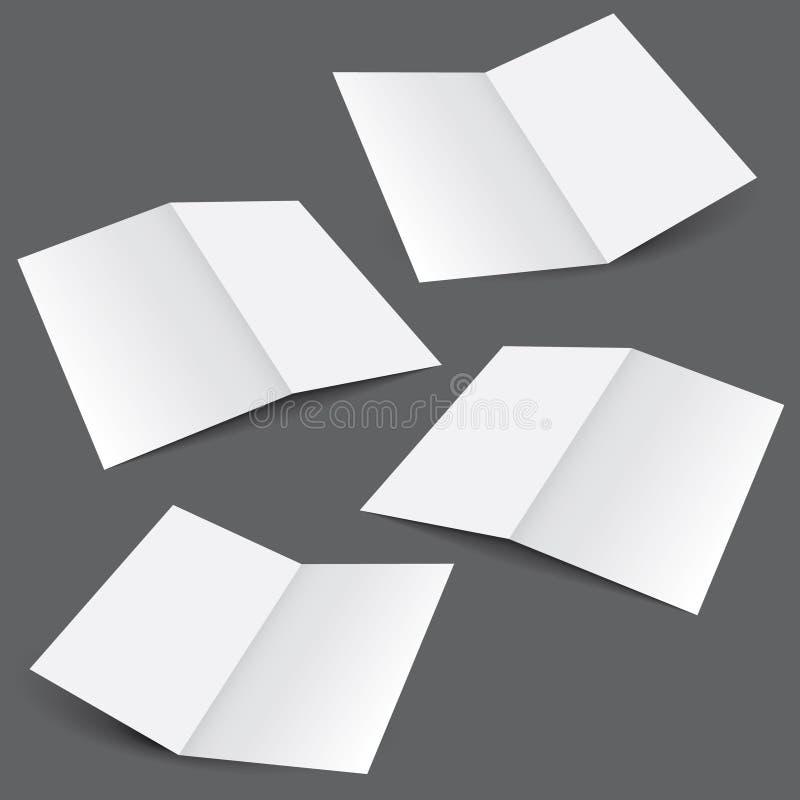 Molde da dobra da placa dois ilustração do vetor