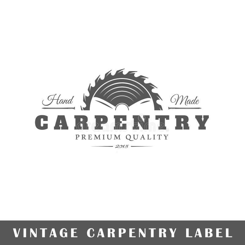 Molde da etiqueta da carpintaria ilustração stock