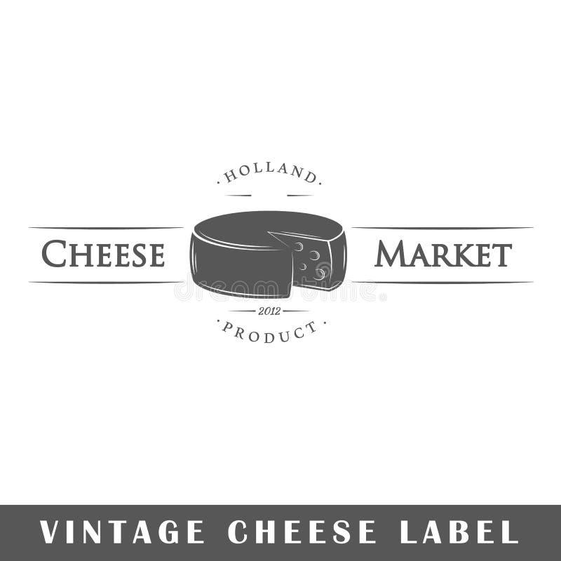 Molde da etiqueta do queijo ilustração royalty free