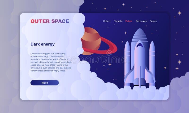 Molde da imagem do herói da exploração do espaço com foguetes ilustração royalty free
