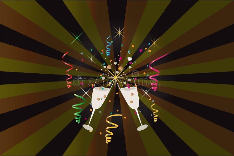 Molde da imagem do vetor da celebração do ano novo do partido ilustração do vetor
