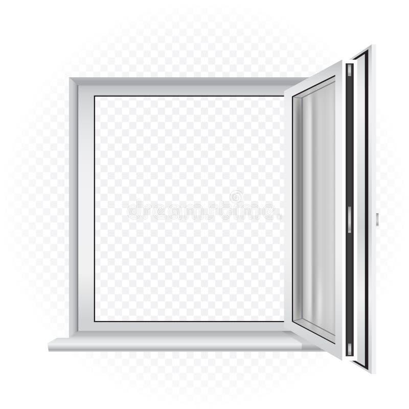 Molde da janela aberta ilustração royalty free
