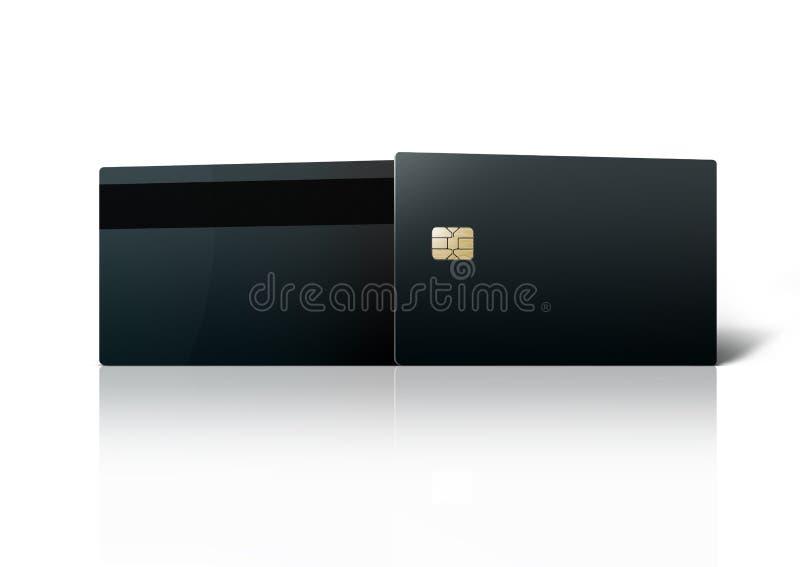 Molde da microplaqueta preta do cartão de banco isolada no branco fotos de stock royalty free