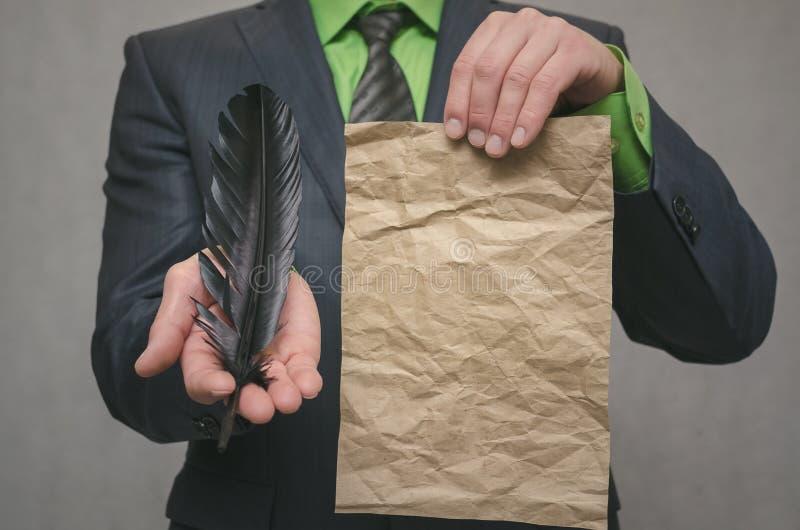 Molde da oferta especial Conclusão de um contrato do negócio Conceito do negócio de negócio Assinatura de um acordo imagens de stock