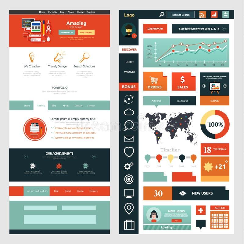 Molde da página do Web site Design web ilustração stock