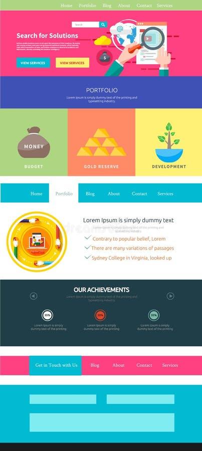 Molde da página do Web site Design web ilustração royalty free