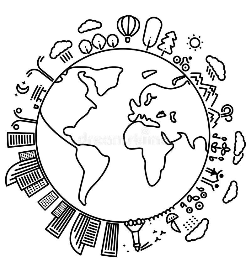 Molde da paisagem do planeta ilustração royalty free