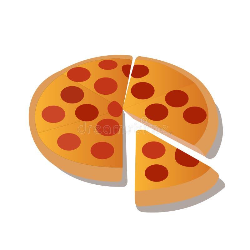 Molde da pizza para o menu e o catálogo do alimento ilustração stock