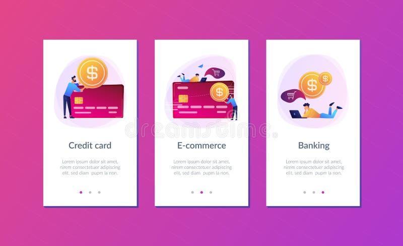 Molde da relação do app do cartão de crédito ilustração stock