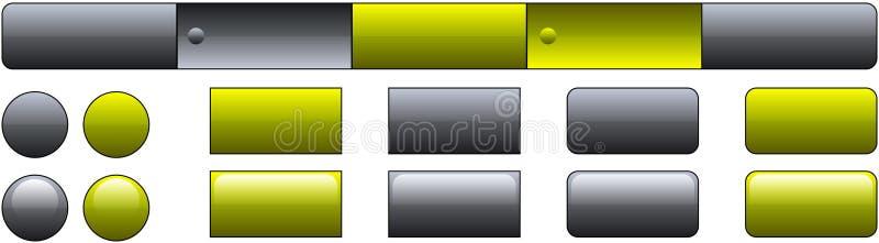 Molde da tecla do Web site ilustração stock