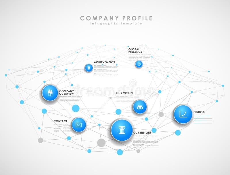 Molde da vista geral do perfil da empresa ilustração stock