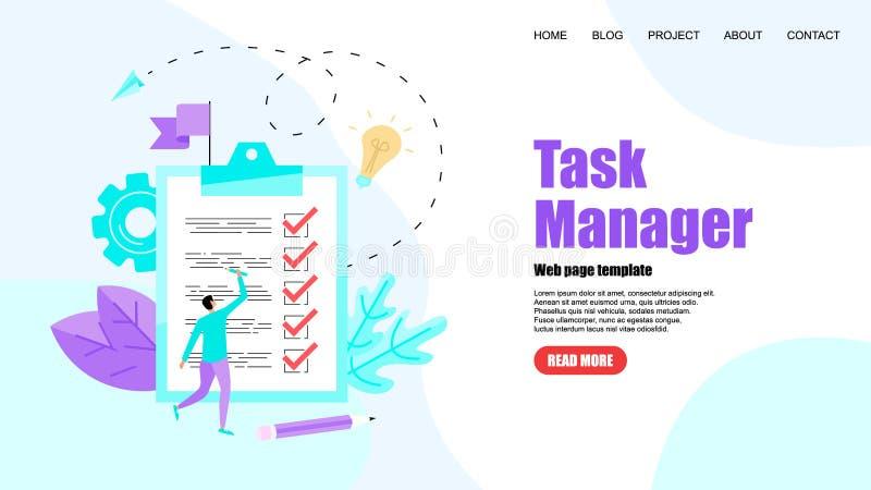 Molde da Web Conceito do gerente de tarefa Apps da lista de afazeres Ilustra??o do vetor ilustração do vetor