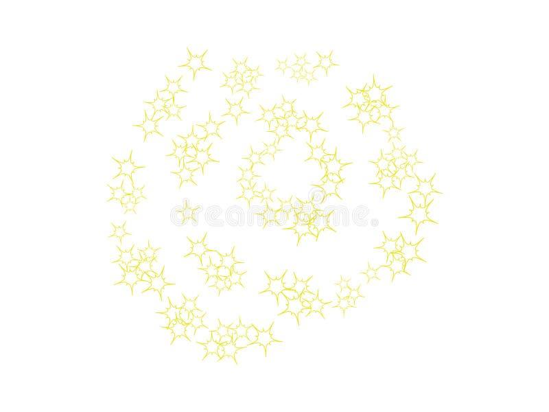 Molde das estrelas da faísca ilustração do vetor
