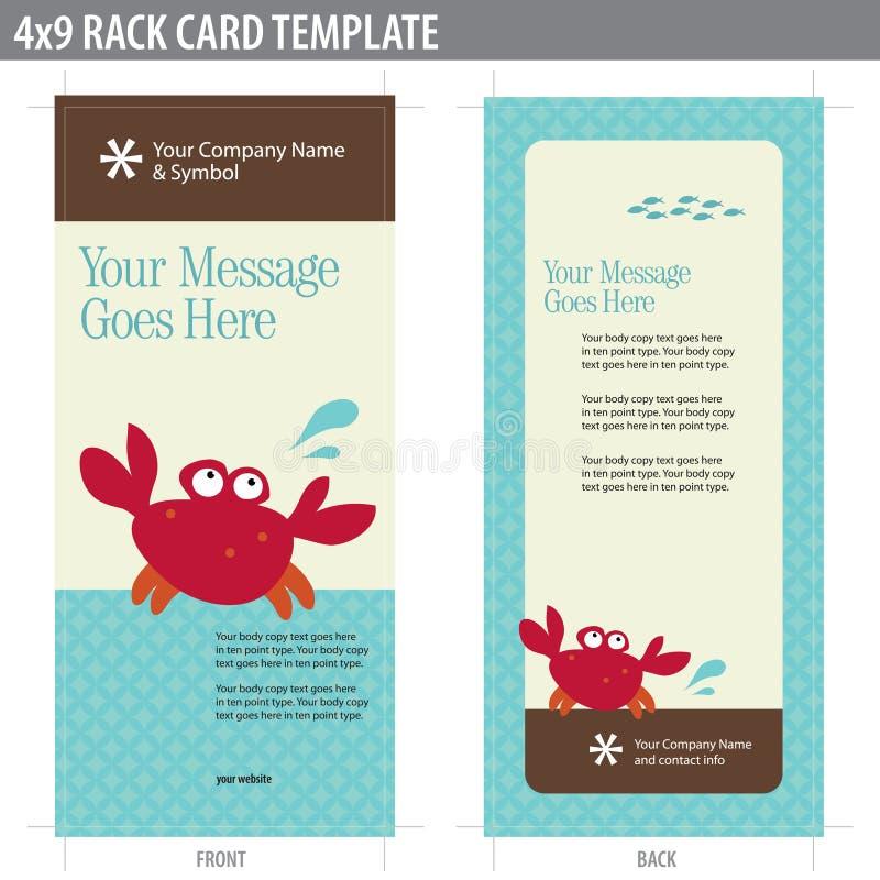 molde de Broshure do cartão da cremalheira 4x9 ilustração stock