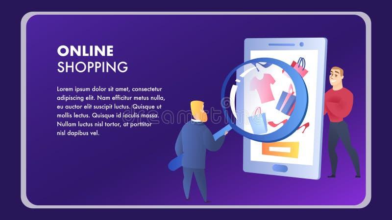 Molde de compra em linha do vetor do elemento do Web site ilustração royalty free