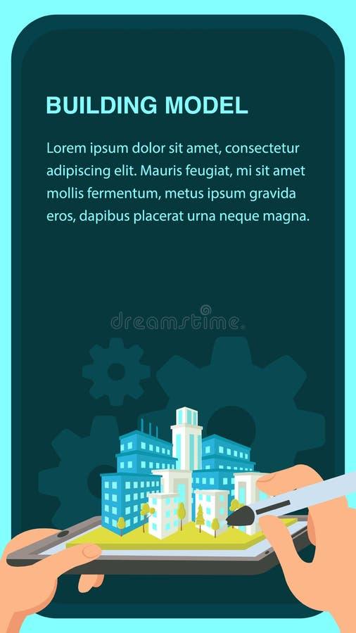 Molde de construção de Website Banner Vetora do modelo ilustração do vetor