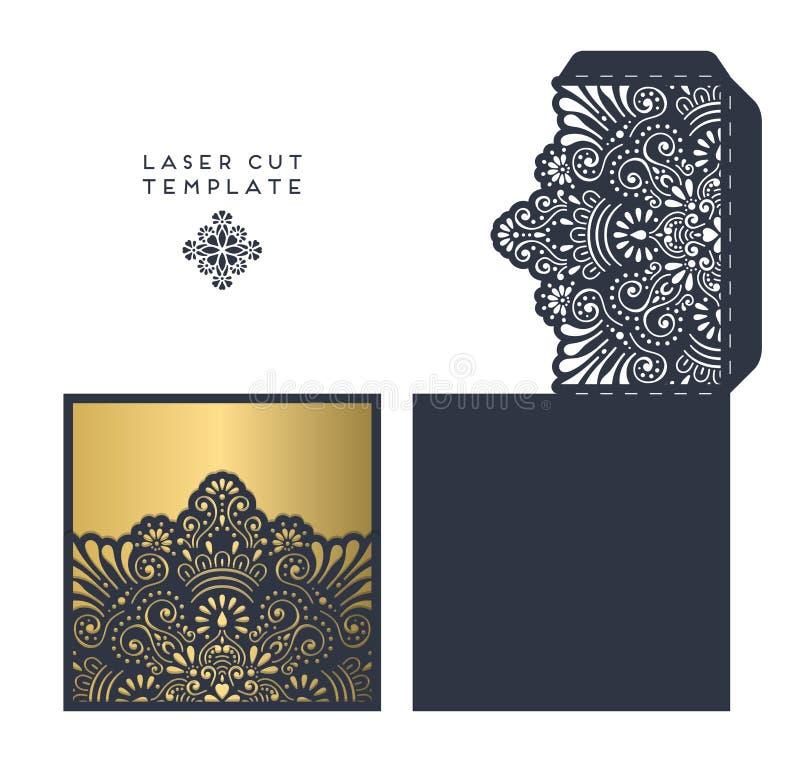 Molde de corte do laser ilustração royalty free